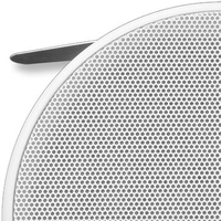 Krix Helix outdoor 2-way in-ceiling speaker photo with grille on (159KB jpg).