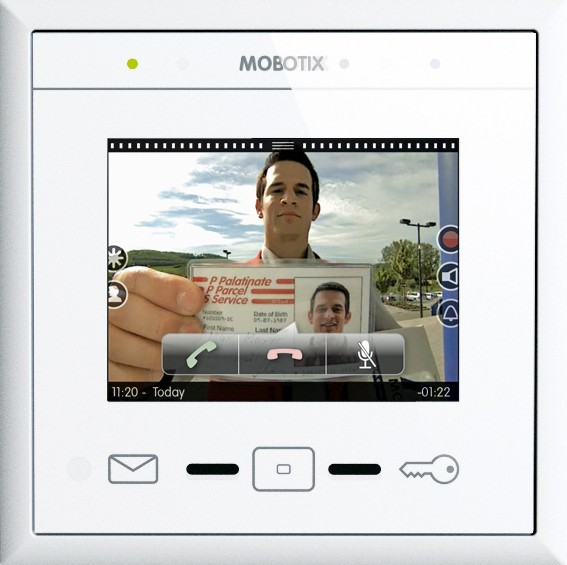 Mobotix MxDisplay home surveillance intercom touchscreen preview (1.09MB pdf)