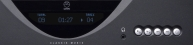 View large Linn Classik Music stereo front panel photograph, black finish (1.5MB jpg).