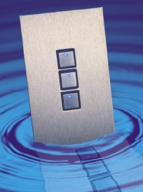 Beautiful wall Switches with stainless steel or glass wall plates.